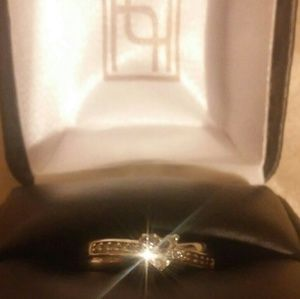 Heart Solataire Engagement/Promise Ring